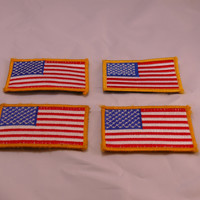 Embroidered American Flag Patch w/velcro 2 x 3.5
