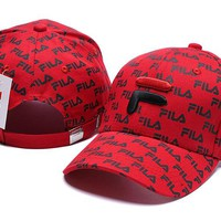 Red FILA Golf Baseball Cap Hat