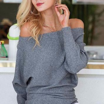 Kloe Off The Shoulder Sweater