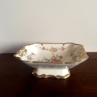 Pedestal Bowl  Concorde China Gold Glaze Footed Bowl