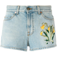 Gucci Embroidered Denim Shorts - Farfetch