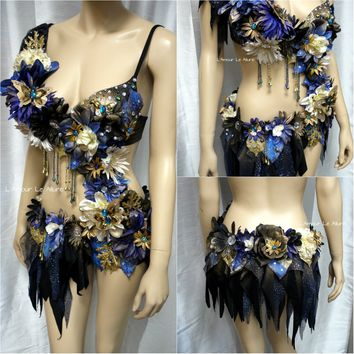 Midnights Dream Flower Fairy Bra and Bottom Monokini