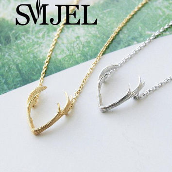 2016 Fashion Necklace Animal Antler Pendant &Necklaces for Women Vintage Horn Women Long Necklaces Party Gitf Christmas N056