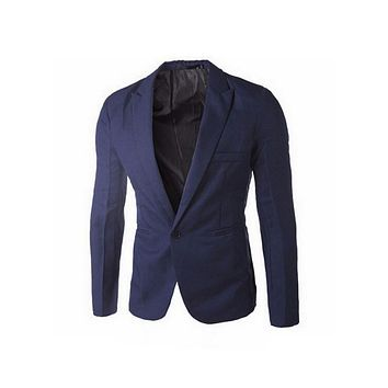 Clothing Blazer Men One Button Men Blazer