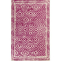 Atlas Hand Knotted Bright Pink Rug