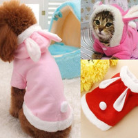 Pet Puppy Dog Cat Hoodie Clothes Winter Warm Coat Rabbit Soft Costume Apparel 1X