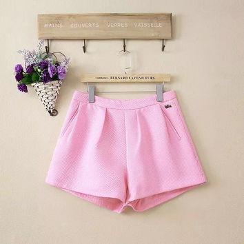 Korean Women's Fashion Sweets High Rise Casual Pants Shorts [4917775620]