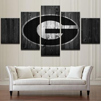 Georgia Bulldogs College Football Basketball Sports Wall Art Print on Canvas