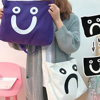 Reversible Smiley Face Tote Bag