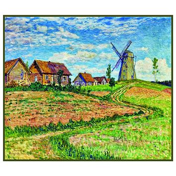 The Farm Windmill By Nikolay Bogdanov-Belsky Counted Cross Stitch Pattern