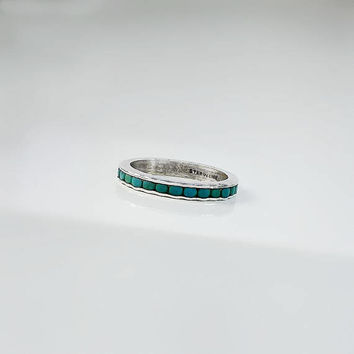 Wohelo Campfire Girls Ring - Native American Turquoise Ring Size 4.5 - Turquoise Band - Wohelo Turquoise Ring