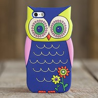 Owl  Gifts:  Blue  Owl  3D  iPhone  5  Cover  |  Natural  Life