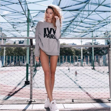 Women's Fashion Hot Sale Alphabet Print Hoodies [8894724423]