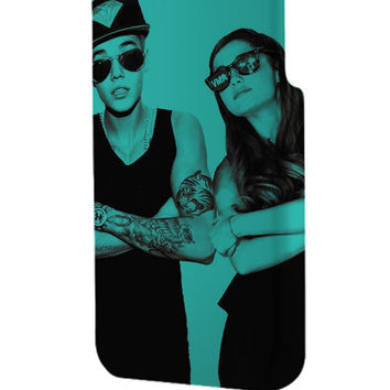 Best 3D Full Wrap Phone Case - Hard (PC) Cover with Funny Ariana Grande and Justin bieber Design