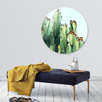 «Cactus Love», Limited Edition Disk Print by Uma Gokhale - From $99 - Curioos