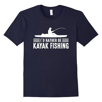 I'd Rather Be Kayak Fishing T-Shirts - Men's Crew Neck Novelty Tee