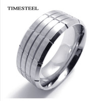 Fashion Men's Titanium 316L Stainless Steel Ring Band Supper Cool Men's Jewelry Free Shipping