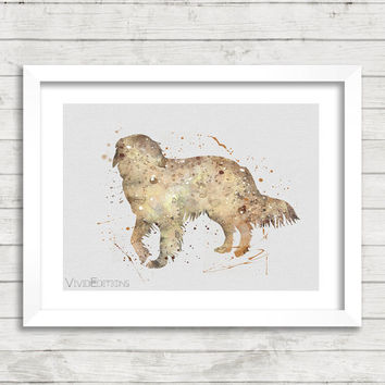 Dog Poster, Golden Retriever Watercolor Art Print, Kids Decor, Minimalist Home or Office Decor, Gift, Not Framed, Buy 2 Get 1 Free! [No. 46]