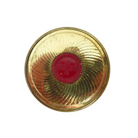 Vintage Coty NY Rouge | Sub-Deb Air Spun Dahlia Rouge | Gold Tone 1950s Collectors Compact