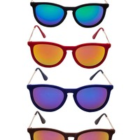 Shop Prima Donna - Veruschka Velvet Mirrored Sunglasses at Prima donna