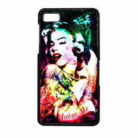 Marilyn Monroe Tattooed Flower With Pistol Gun Collage BlackBerry Z10 Case