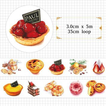Goozu Sweet Food Donut Cake Tea Time Washi Tape DIY Decorative Scrapbooking Sticker Diary Deco Masking Tape for Craft Gift