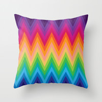 Zig Zag Chevron Pattern G291 Throw Pillow by MedusArt