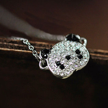 Crystal Cute Panda Diamond Chain