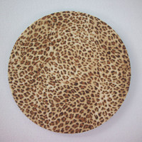 mousepad /  Mouse Pad / Mat - round or rectangle - cheetah animal print -  Office Supplies desk office accessory coworker gift