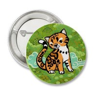 Cloud Leopard Pins from Zazzle.com