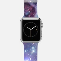 Nebula Galaxy Universe Stars Print Apple Watch Band case by Rex Lambo | Casetify