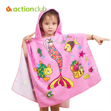Actionclub Microfiber Fabric Beach Towel 120*60cm Cartoon Kids Beach Towel Easy Bibulous Towel For Children serviette de bain