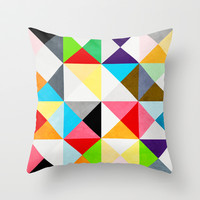 Geometric Morning Throw Pillow by Three of the Possessed