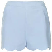 Scallop Shorts - Pale Blue