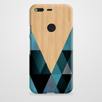Wooden Geometric Google Pixel XL Case | casefantasy