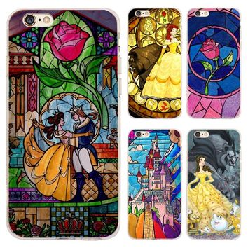 Coque Beauty And Beast Clear Soft Silicone Phone Cases for iPhone XS Max XR X 7 8 6 6S Plus 5S 5 SE 5C 4S 4 iPod Touch 6 5 Cover