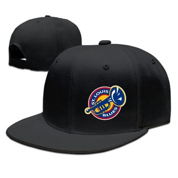 St. Louis Blues Printed Unisex Adult Womens Fitted Hats Mens Baseball Cap