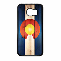 Colorado State Flag Wood Design Samsung Galaxy S6 Case