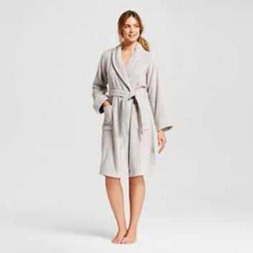 Women's Soft Classic Terry cloth Robe Millstone Gray - Gilligan & O'Malley™ : Target