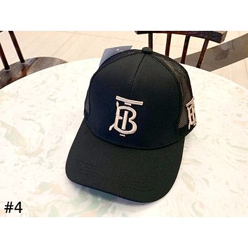 Burberry Tide brand embroidered letters for men and women models wild casual baseball cap #4