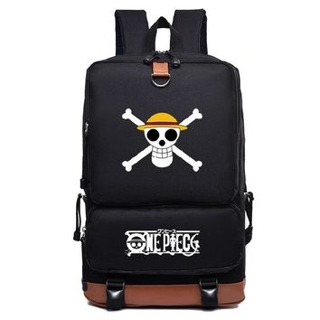 Japanese Anime Bag  One Piece Printing School Bag Canvas Backpack Womens Mens Travel Bag Teens Students Laptop Bag AT_59_4