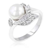 Fleur Pearl Ring, size : 05
