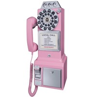 Crosley 1950's Retro Payphone Pink