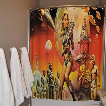 Space Girl Shower Curtain