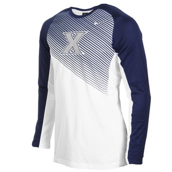 Xavier Musketeers Nike Shooting Performance Long Sleeve T-Shirt – Navy Blue