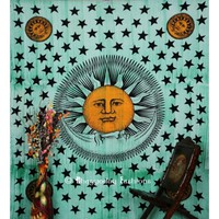Buy Cheap Bohemian Sun and Moon Wall Tapestry Bedspread Curtain