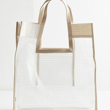 Grid Plastic Shopper Tote Bag | Urban Outfitters