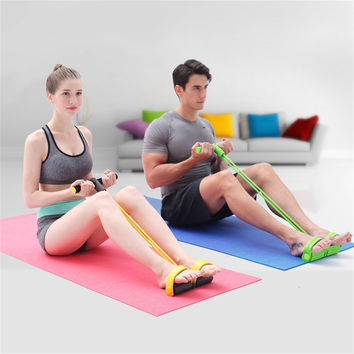 Fitness Resistance Band Rope Tube Elastic Exercise Equipment for Yoga Pilates Workout Latex Tube Pull Rope free shipping