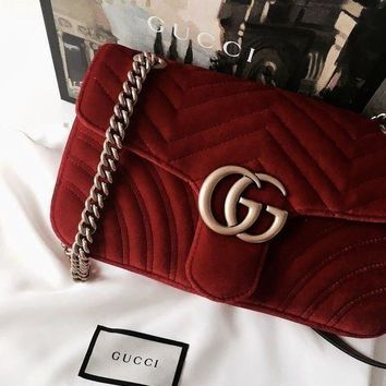 GUCCI Marmont tide brand female chain bag shoulder bag Messenger bag