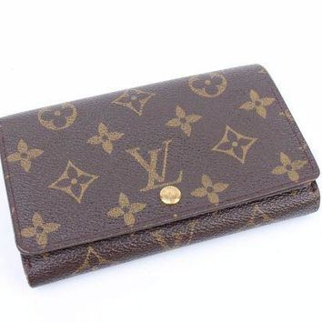 DCCK 100% Auth Louis Vuitton Monogram BI-Fold purse wallet CA0071 RARE